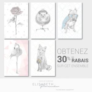 Carte postale - Ensemble rabais