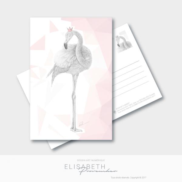Carte postale – Rosa de flamant