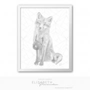 Kitsuné rit, gris (01) texturé (T)